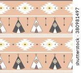 tepee seamless pattern. wigwam... | Shutterstock .eps vector #380981497