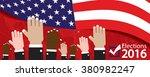 elections 2016 banner vector... | Shutterstock .eps vector #380982247