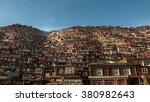 larung gar buddhist academy  in ... | Shutterstock . vector #380982643
