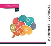 brain storm design  | Shutterstock .eps vector #380985253