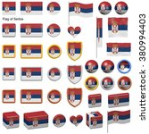 3d shapes containing the flag... | Shutterstock . vector #380994403