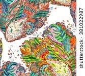cute seamless texture with... | Shutterstock . vector #381022987