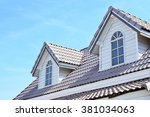 roof and blue sky | Shutterstock . vector #381034063
