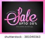elegant sale flyer  banner or... | Shutterstock .eps vector #381040363
