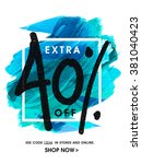 stylish sale flyer  banner or... | Shutterstock .eps vector #381040423