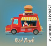 Street Food Concept With Burge...