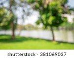 abstract blur city park bokeh... | Shutterstock . vector #381069037