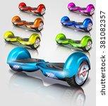 set of hoverboard  vector... | Shutterstock .eps vector #381082357