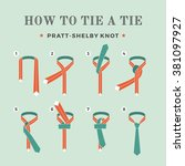 instructions on how to tie a... | Shutterstock .eps vector #381097927