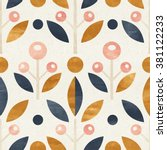 simple shapes seamless pattern... | Shutterstock . vector #381122233