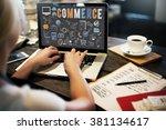 commerce business marketing... | Shutterstock . vector #381134617