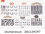 vector set of icons and labels | Shutterstock .eps vector #381139297