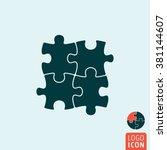 puzzle icon. circular puzzle...
