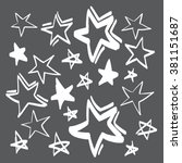 hand drawn stars set vector... | Shutterstock .eps vector #381151687