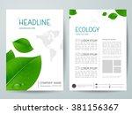 modern flyers brochure cover... | Shutterstock .eps vector #381156367