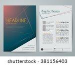modern flyers brochure magazine ... | Shutterstock .eps vector #381156403