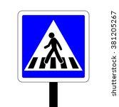 france pedestrian crossing road ... | Shutterstock .eps vector #381205267