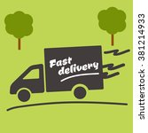 icon of fast delivery. the... | Shutterstock .eps vector #381214933
