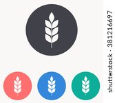 wheat icon | Shutterstock .eps vector #381216697