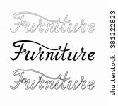 furniture lettering variations. ... | Shutterstock .eps vector #381222823