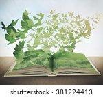 Magic Book  Grass  Butterflys