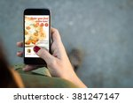 top view of woman walking in... | Shutterstock . vector #381247147