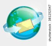 eastern hemisphere of globe ...   Shutterstock .eps vector #381252547