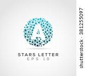 stars letter logo | Shutterstock .eps vector #381255097