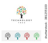 technology tree logo | Shutterstock .eps vector #381255103