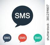 sms  icon  sms  vector icon ...