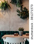 Small photo of Free table in a beautiful ambient of cafe
