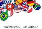 international world flags on... | Shutterstock . vector #381288667
