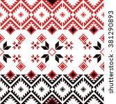 seamless ethnic geometric... | Shutterstock .eps vector #381290893