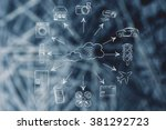 concept of internet of things ... | Shutterstock . vector #381292723