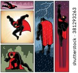 superhero banners 6  set of 5... | Shutterstock .eps vector #381293263