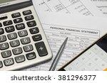 personal financial statement...   Shutterstock . vector #381296377