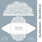 vector die cut envelope... | Shutterstock .eps vector #381320113