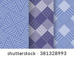 set of 3 abstract patterns.... | Shutterstock .eps vector #381328993