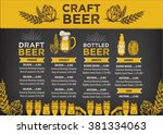 beer restaurant brochure vector ... | Shutterstock .eps vector #381334063