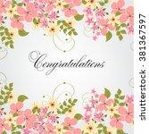 wedding floral invitation | Shutterstock .eps vector #381367597