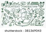 business concept. marketing and ... | Shutterstock .eps vector #381369043