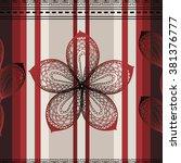 seamless vertical ethnic... | Shutterstock .eps vector #381376777