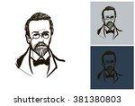 anton chekhov sketch vector... | Shutterstock .eps vector #381380803