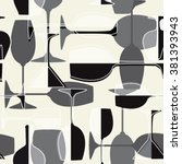 seamless wineglass background.... | Shutterstock .eps vector #381393943