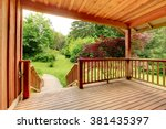nice deck with beautiful... | Shutterstock . vector #381435397