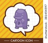 bizarre monster theme elements | Shutterstock .eps vector #381454597