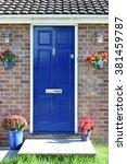 front door of a beautiful town... | Shutterstock . vector #381459787