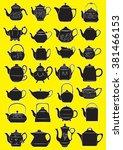vector illustration of teapots...   Shutterstock .eps vector #381466153