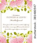 vintage delicate invitation... | Shutterstock .eps vector #381480547