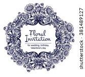 romantic invitation. wedding ... | Shutterstock . vector #381489127